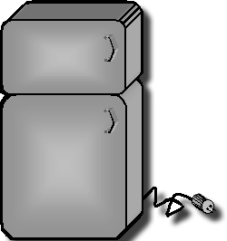 An image of a household refrigerator.